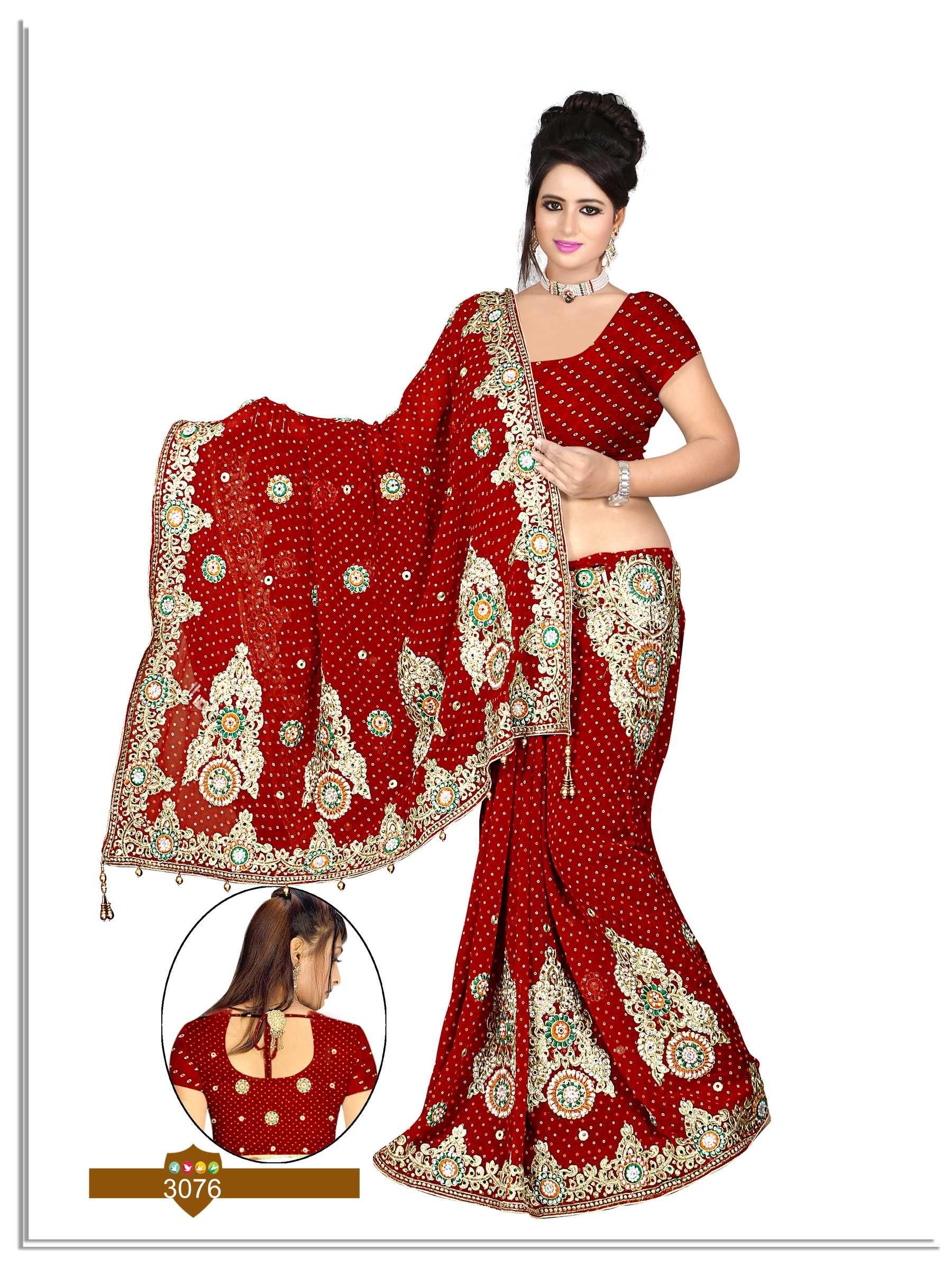 436249c0c3 This #heavy #Designer #work #bandhani, #Bandhej, #Chunari, #wedding,  #gharchola #saree are in #Georgette, #Viscose and #Jaquard fabrics. Work on  this saree ...