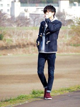 12c3d1e760bf 赤スニーカー」のメンズコーディネート一覧 | Cool | Mens fashion ...
