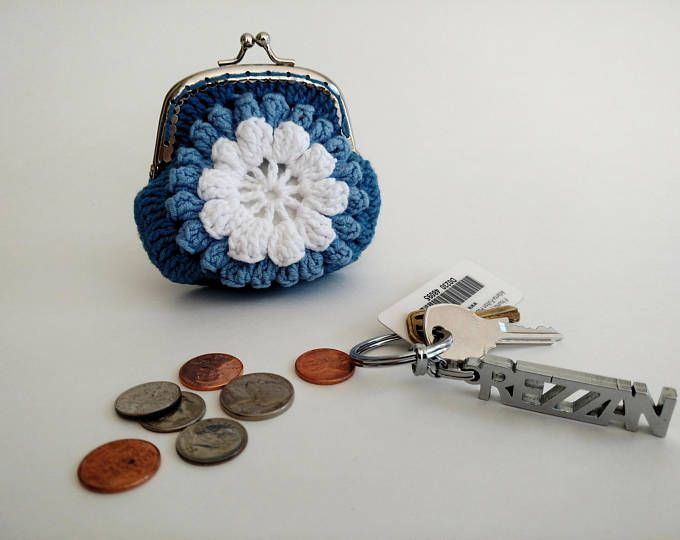 Crochet coin purse | Diy crochet coins purse / purse | Pinterest ...