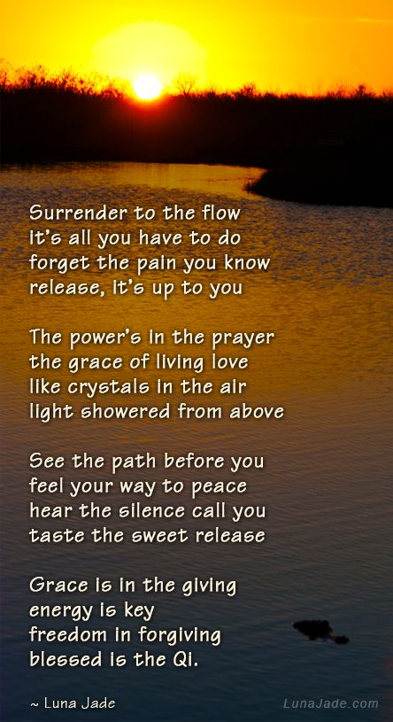 Surrender to the flow. #bioenergy #qi #healing #energy