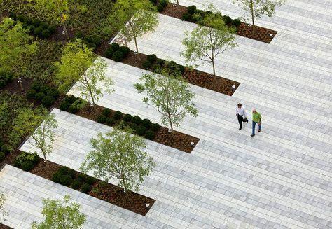 Grange Insurance Corporate Headquarters Landscape Design Paving