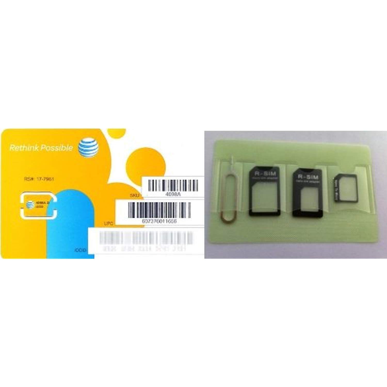 ATandT Nano SIM card for Apple iPhone 5, iPad mini with SIM adapter