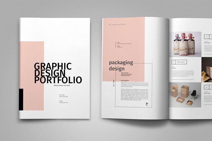 Graphic Design Portfolio Template (82436) | Brochures | Design Bundles