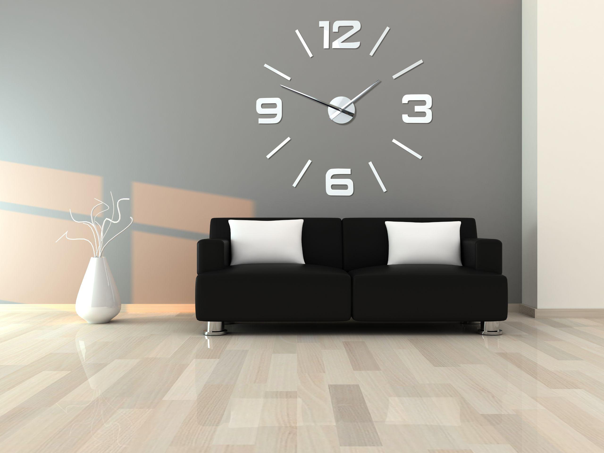Duzy Zegar Scienny Bialy Diy Admirable Wall Clock Modern Diy Clock Wall Modern Clock Design
