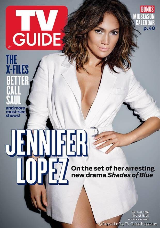 Jennifer Lopez está na capa da revista TV Guide Magazine com novo corte de cabelo para divulgar sua série de TV, 'Shades of Blue'