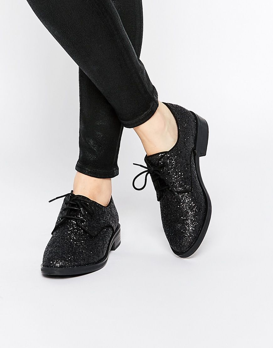 Pull&Bear lace up front heel in black footaction cheap price Cheapest cheap price a6bkAFfoS8