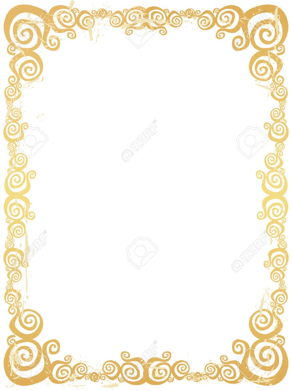 fancy gold border frame clipart clipartfest party