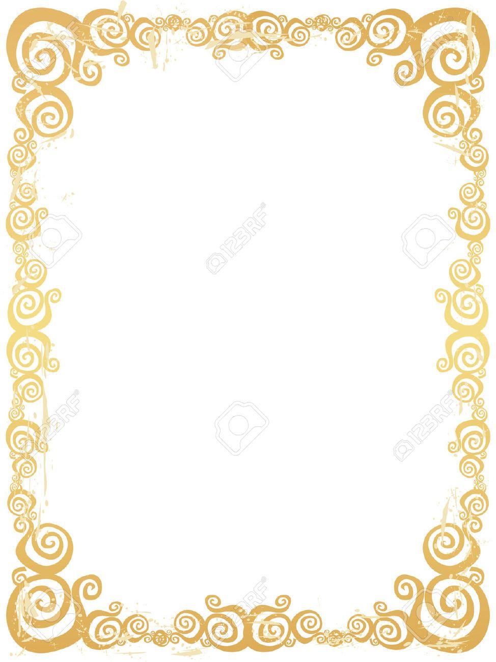 Fancy Gold Border Frame Clipart Clipartfest Clip Art Free Clip Art Wedding Background Images