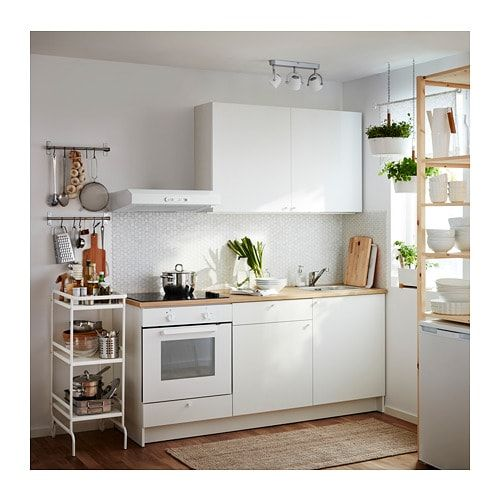 KNOXHULT Base cabinet with doors and drawer - white ...
