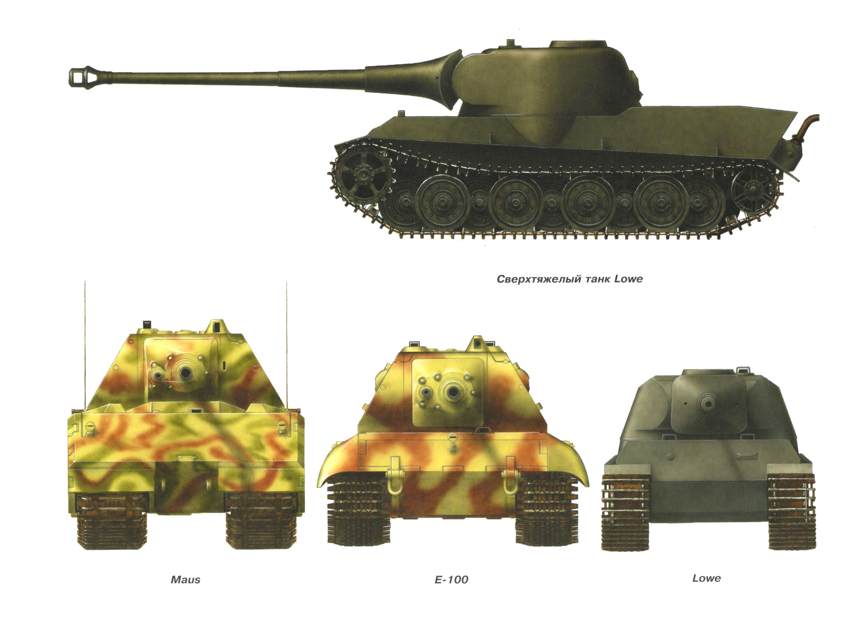 german e super heavy tank l ouml we profile against the maus and e german e100 super heavy tank loumlwe profile against the maus and e 100