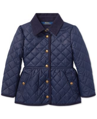 e663e80092d2 Polo Ralph Lauren Big Girls Quilted Barn Jacket - French Navy L (12 ...