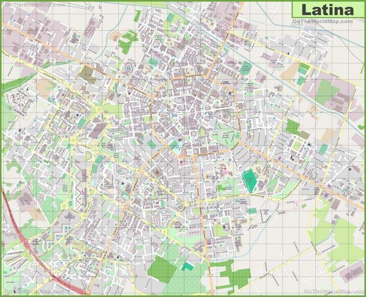 Large detailed map of Latina Maps Pinterest Latina and Italy