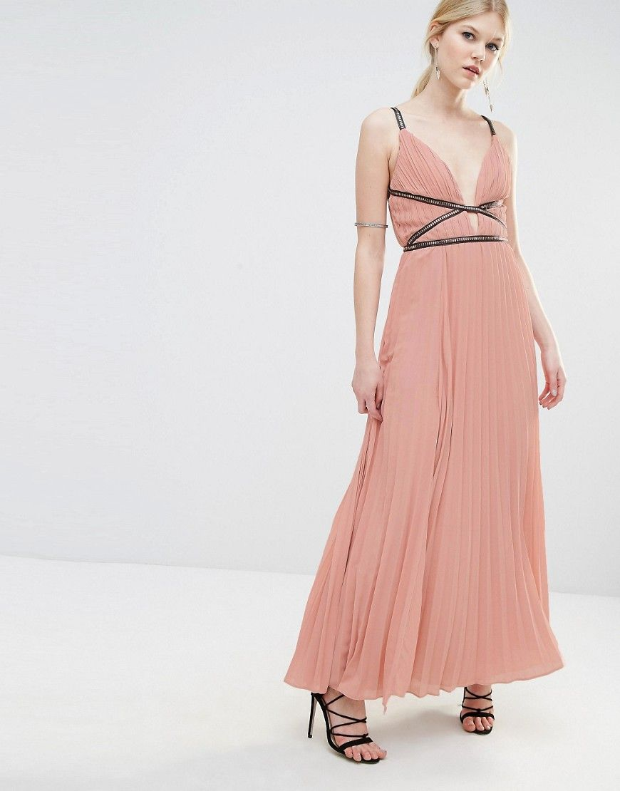 True Decadence Petite Grecian Style Maxi Dress In Pleat Fabric ...