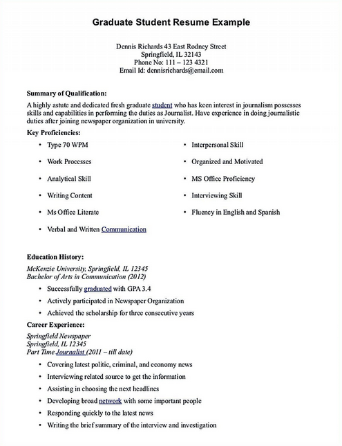 30 Journalism Student Resume Student Resume Resume Examples Professional Resume Examples
