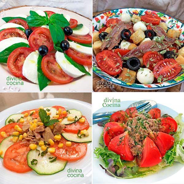 Aquí tienes algunas ideas para hacer ensaladas de tomate frescas y ...