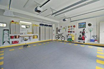 An Organized Functional Two Car Garage Garage Storage