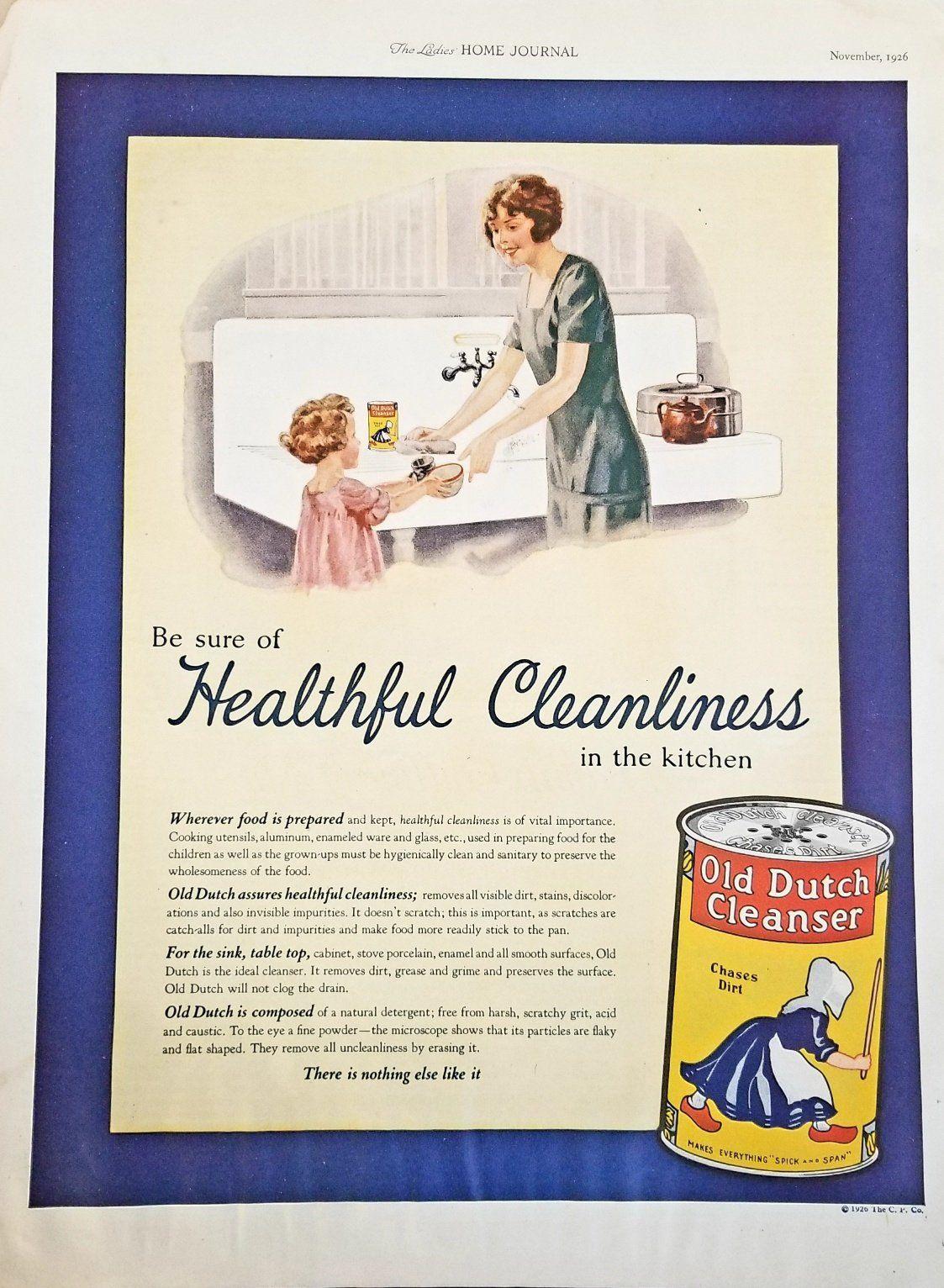 old dutch cleanser vintage advertisement bathroom decor kitchen