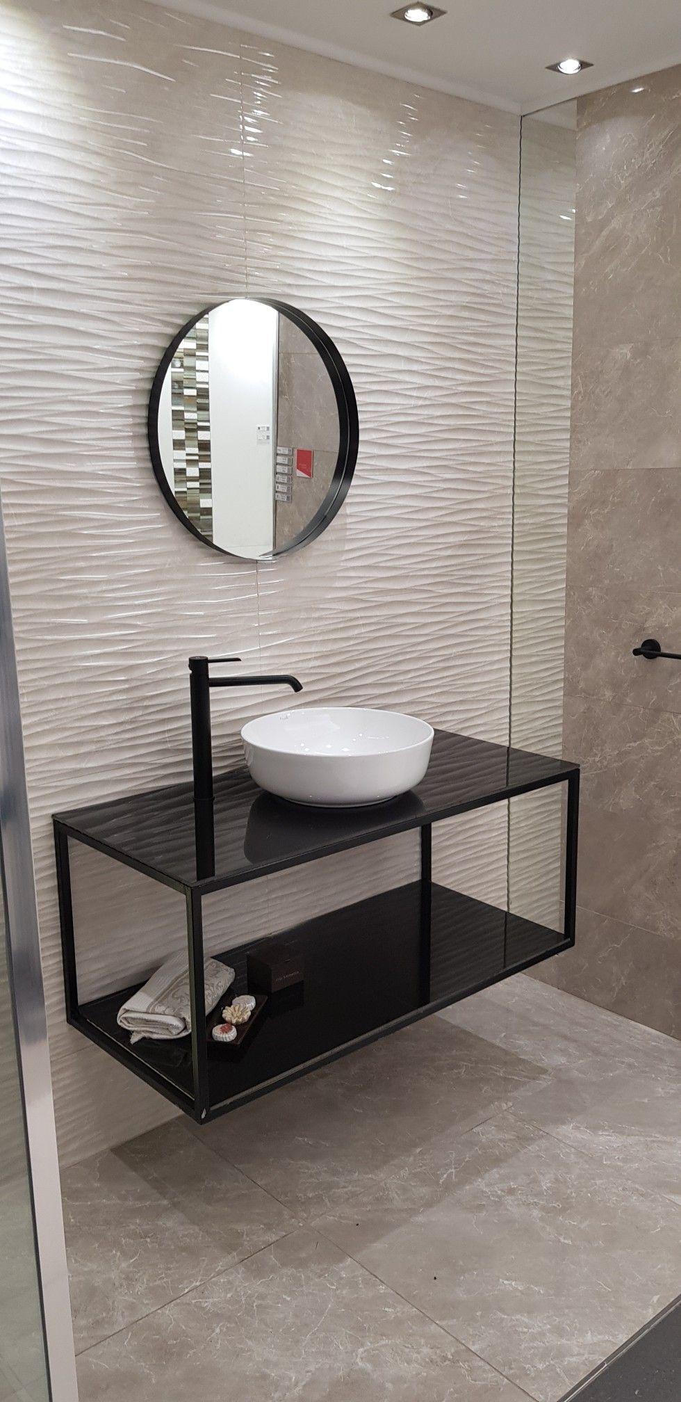 Mesada hierro y espejo redondo (con imágenes) | Muebles de ...