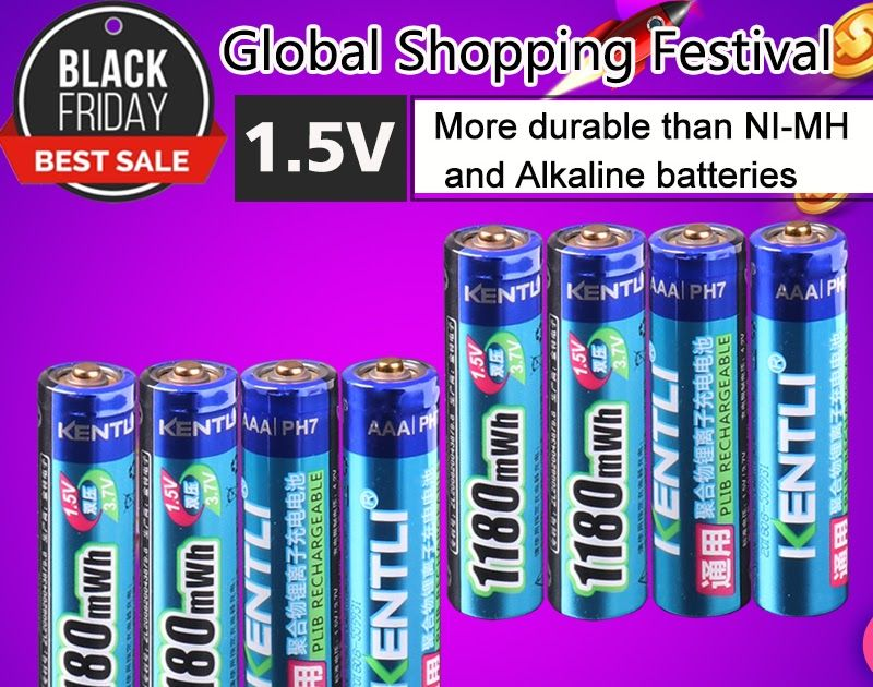On Sale Kentli 8pcs No Memory Effect 1 5v 1180mwh Aaa Polymer Lithium Li Ion Rechargeable Batteries Aaa Battery Elect Rechargeable Batteries Polymer Batteries