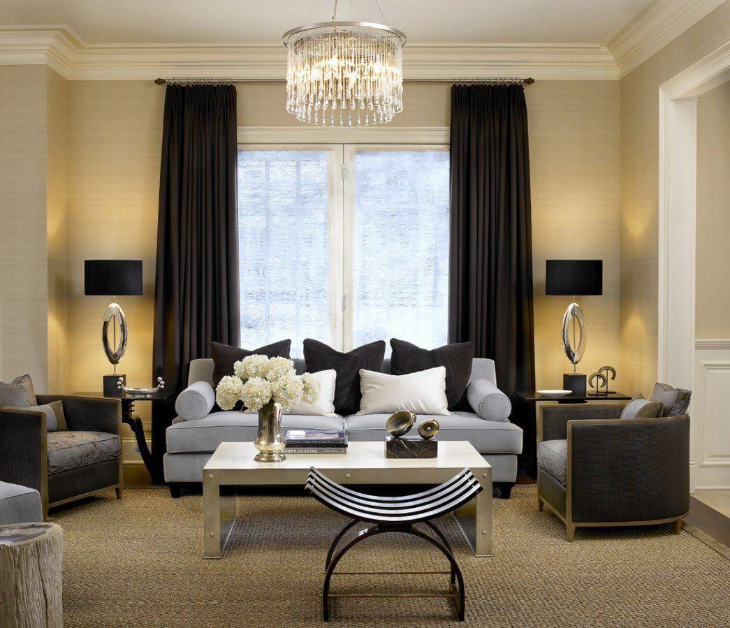 Interior design ideas living room curtains in home design