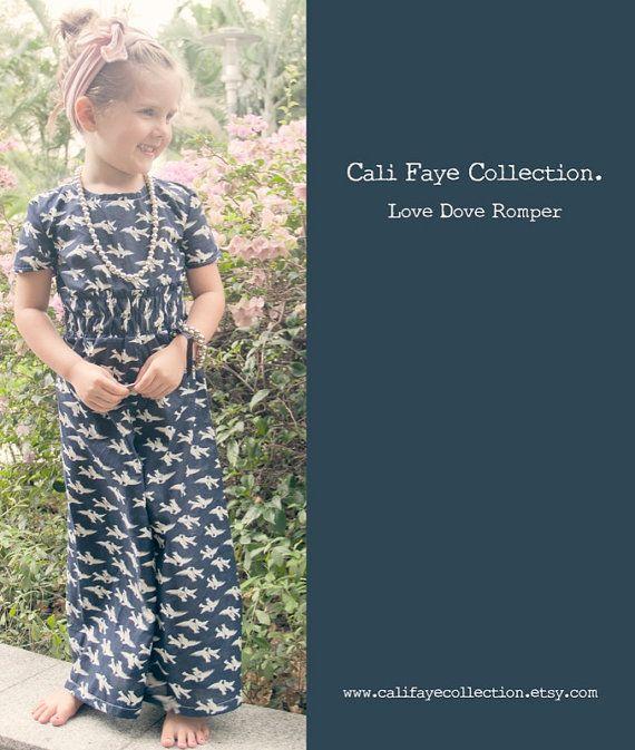 Cali Faye Collection : Love Dove Romper -----> 2/5Y