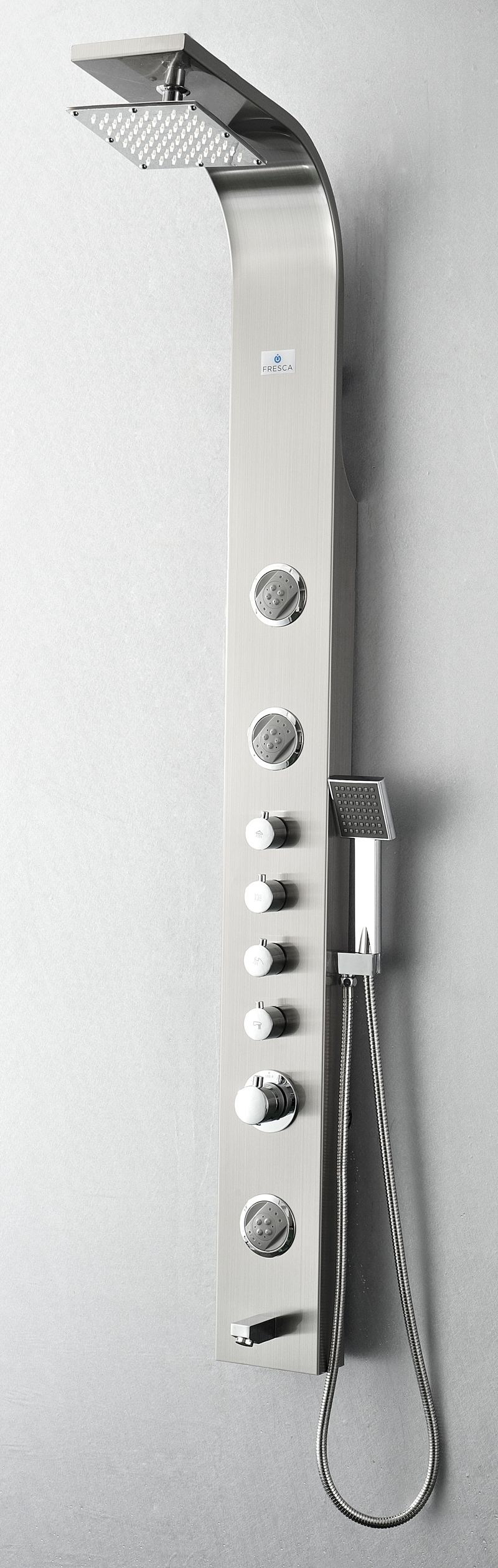Fresca Geona Stainless Steel (Brushed Silver) Thermostatic Massage ...