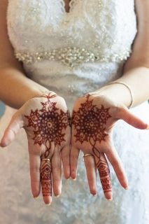 Bride In White Dress With Henna Hands A Little Of This And A