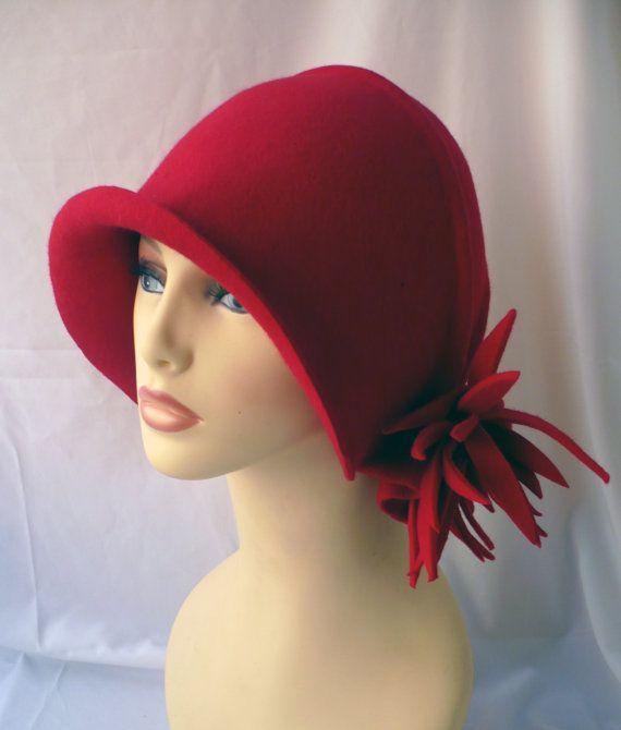d7e4db3ed5f65 NUEVO Sombrero cloché Sombrero años 20 Sombrero vintage