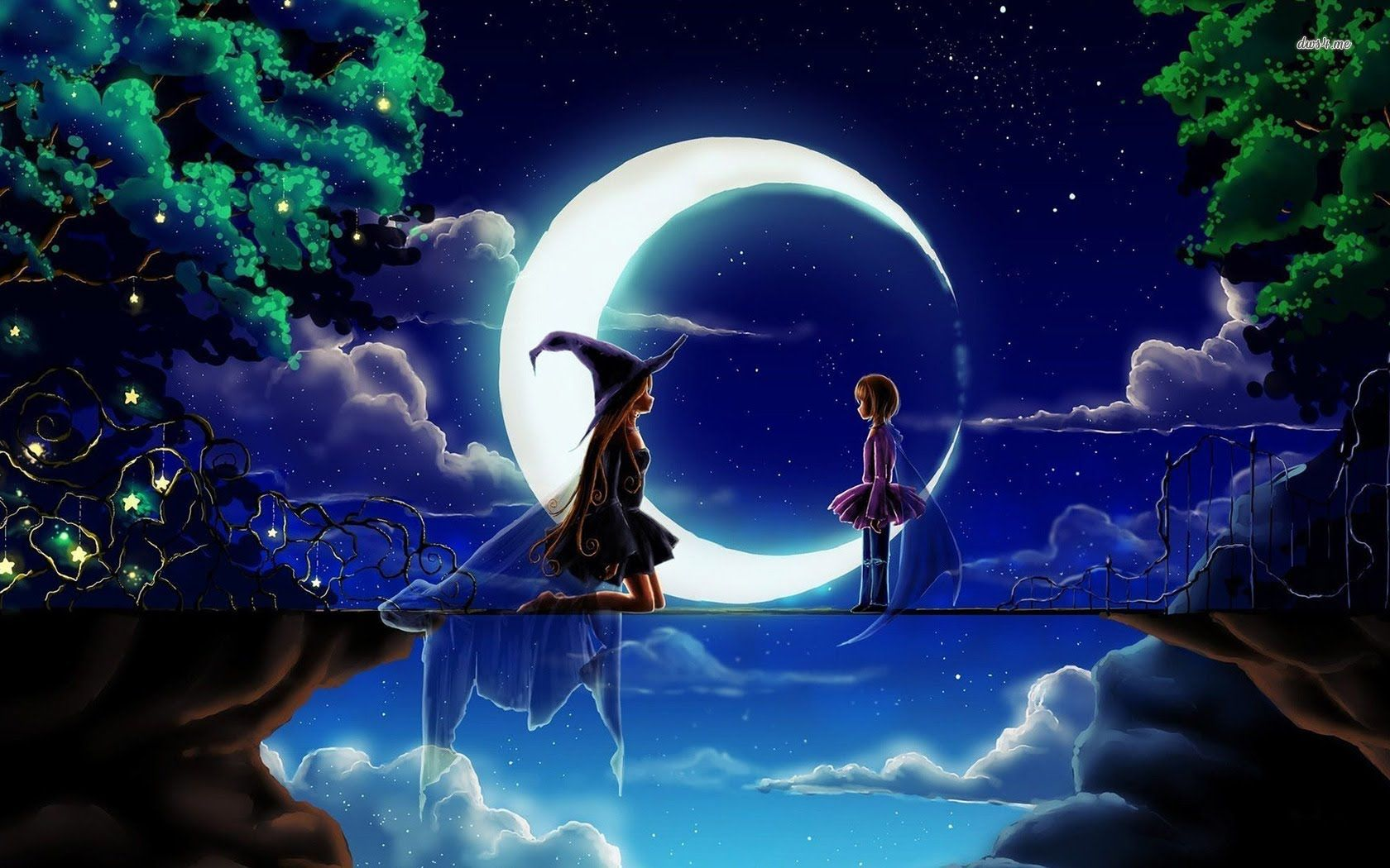 W Magic Fantasy Music W Tales Of The Night Original Witch Wallpaper World Wallpaper Anime Wallpaper
