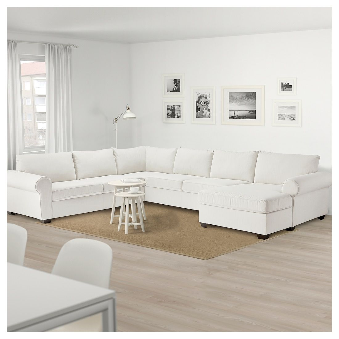 Ellestorp Sectional 4 Seat Corner With Chaise Left Nordvalla Beige Ikea Corner Sofa Design Sectional Sofa Modern Sofa Living Room