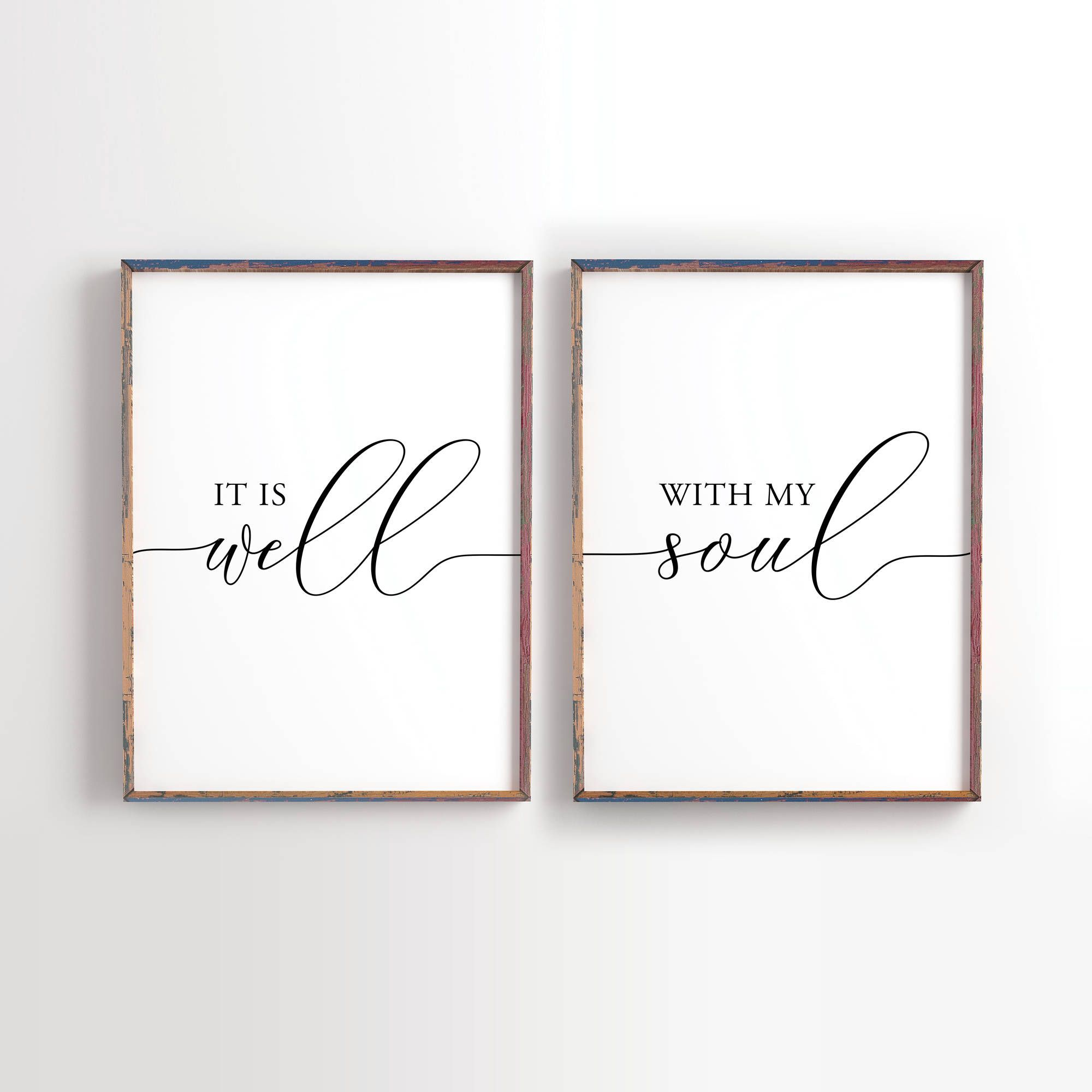 It Is Well With My Soul Printable Wedding Decor Wedding Etsy Christian Wall Art It Is Well With My Soul Printable Decor
