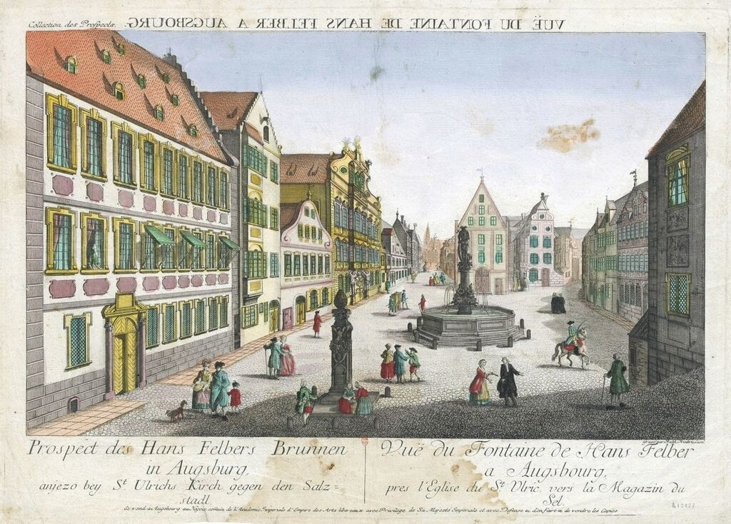 Len Augsburg view of the of hans felber at augsburg s ulrich square by