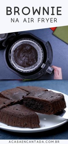Photo of Brownie fácil e rápido na air fryer | A casa encantada