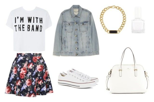 """""""Без названия #21"""" by annyjess ❤ liked on Polyvore featuring Marc by Marc Jacobs, Current/Elliott, Converse, tenoverten and Kate Spade"""