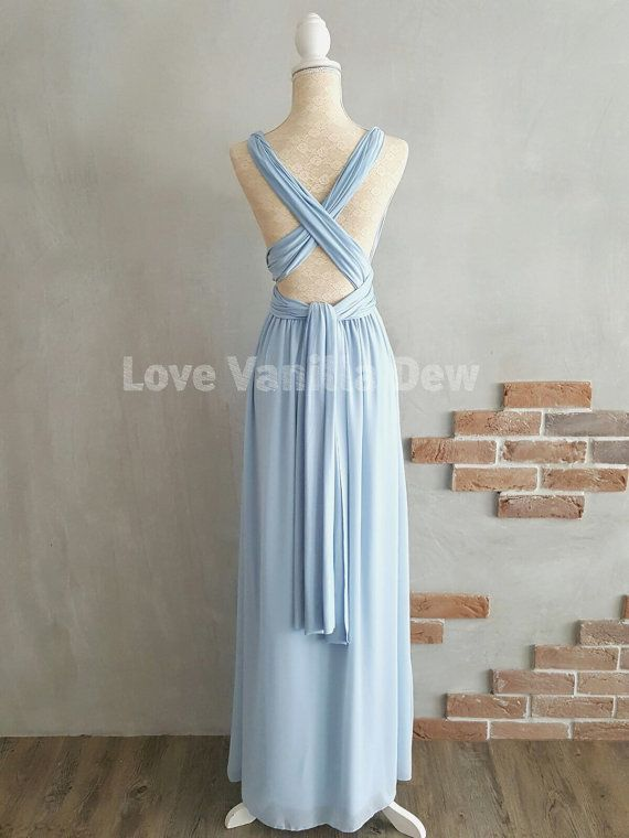 2429ed41eec Bridesmaid Dress Infinity Dress Powder Blue with by LoveVanillaDew  Convertible Dress