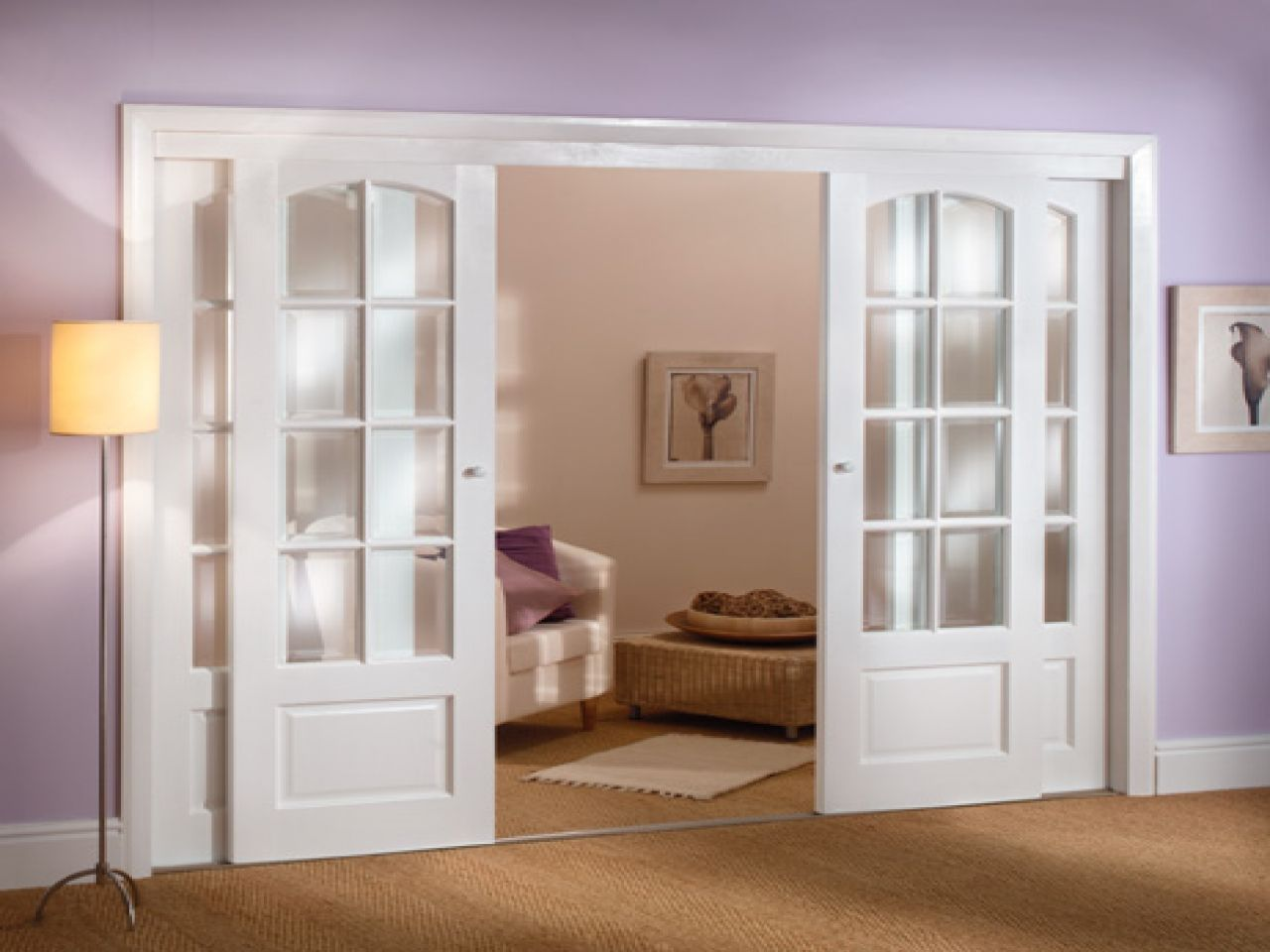 Improve Your Interior Decoration With Cool French Doors At Lowes