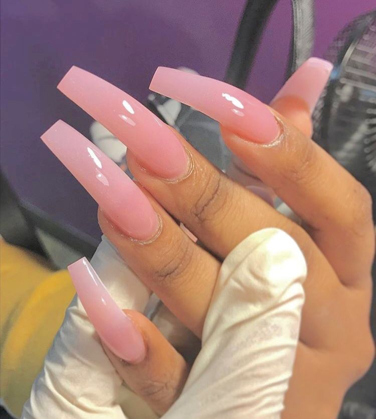 Pin By Charlee Wesley On K Long Acrylic Nails Pink Nails Pink Acrylic Nails