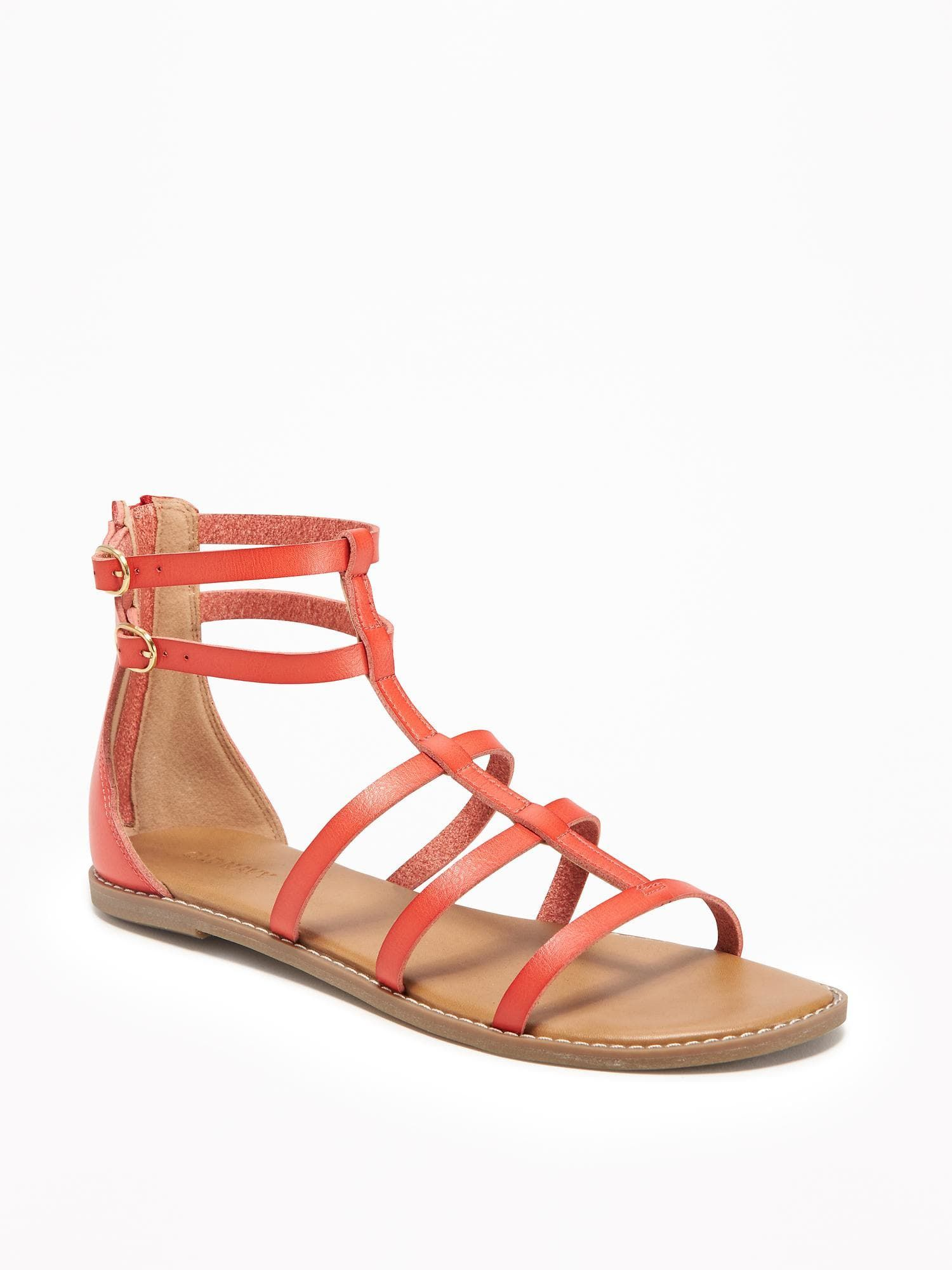 e84aa4b6c8a  19 Old Navy Strappy Zip-Back Gladiator Sandals for Women 100% synthetic  materials