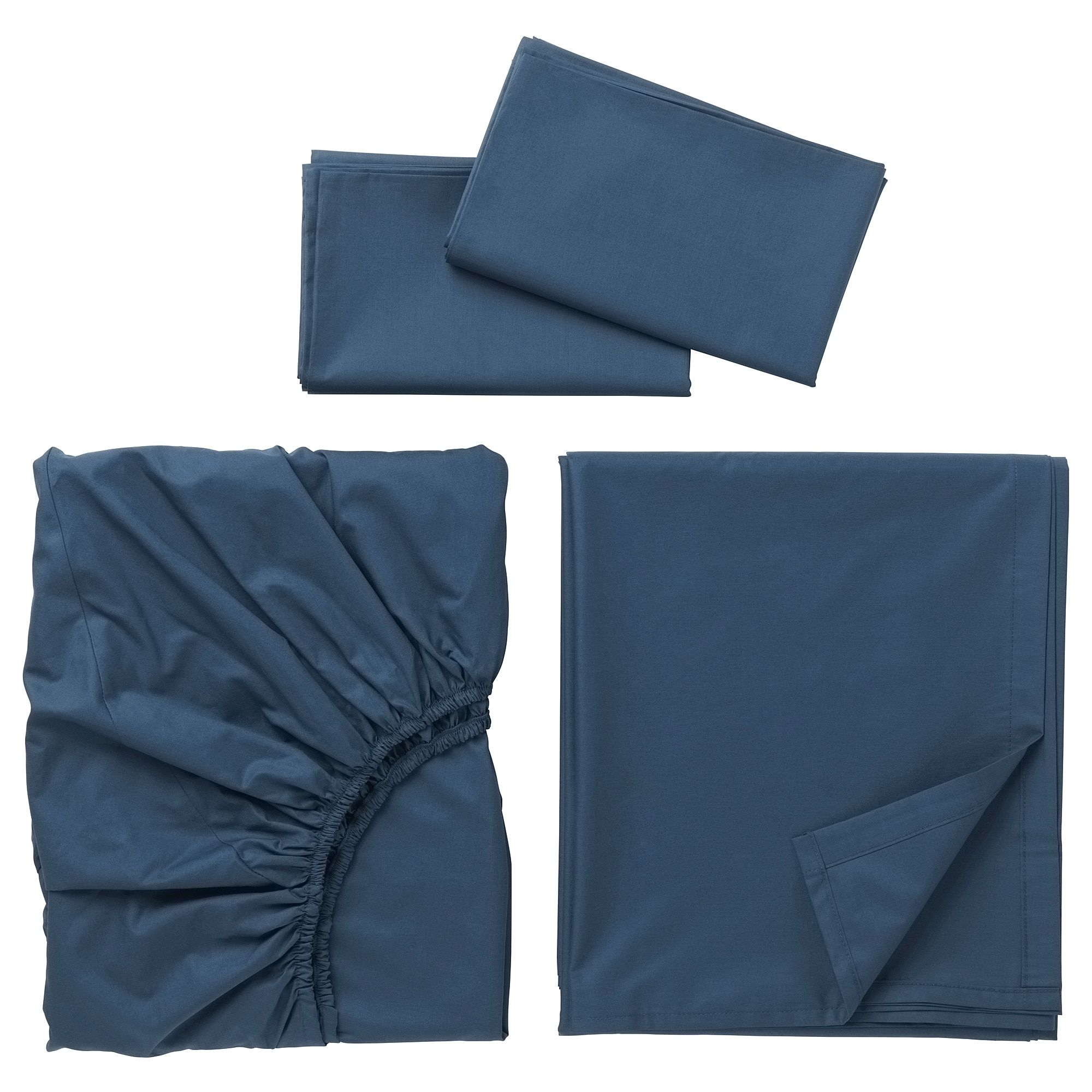ULLVIDE Sheet set dark blue. Shop here IKEA Blue