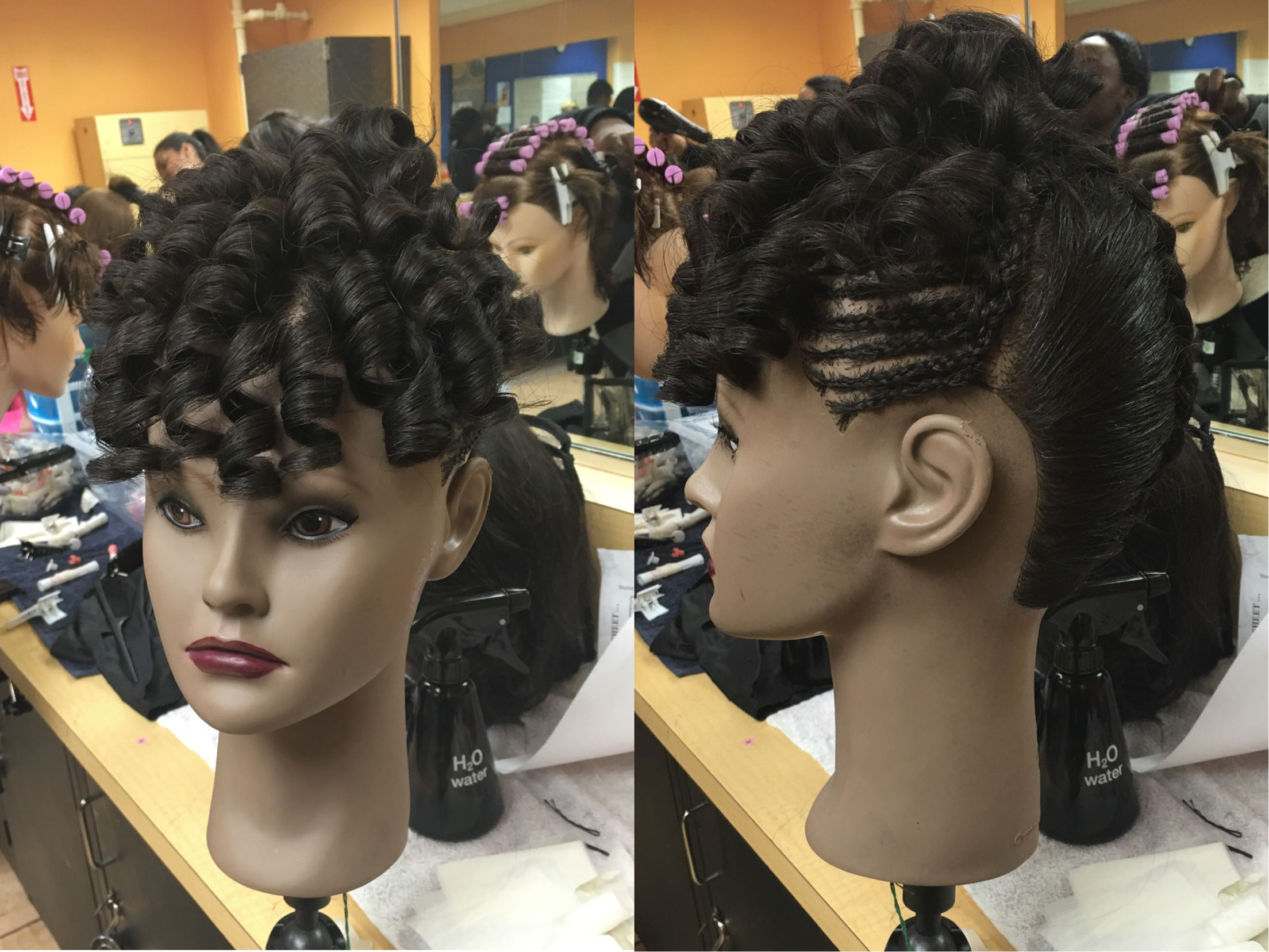 Try On Hair Styles: Destiny Mannequin Braid And Curl Design