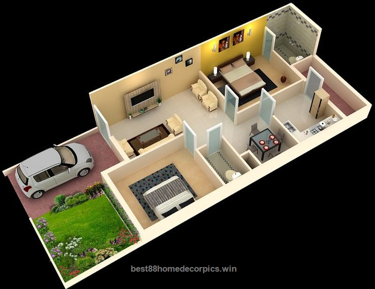 Foundation Dezin Decor 3d Home Plans Home Decor Designs 3d House Plans 2bhk House Plan Duplex House Plans