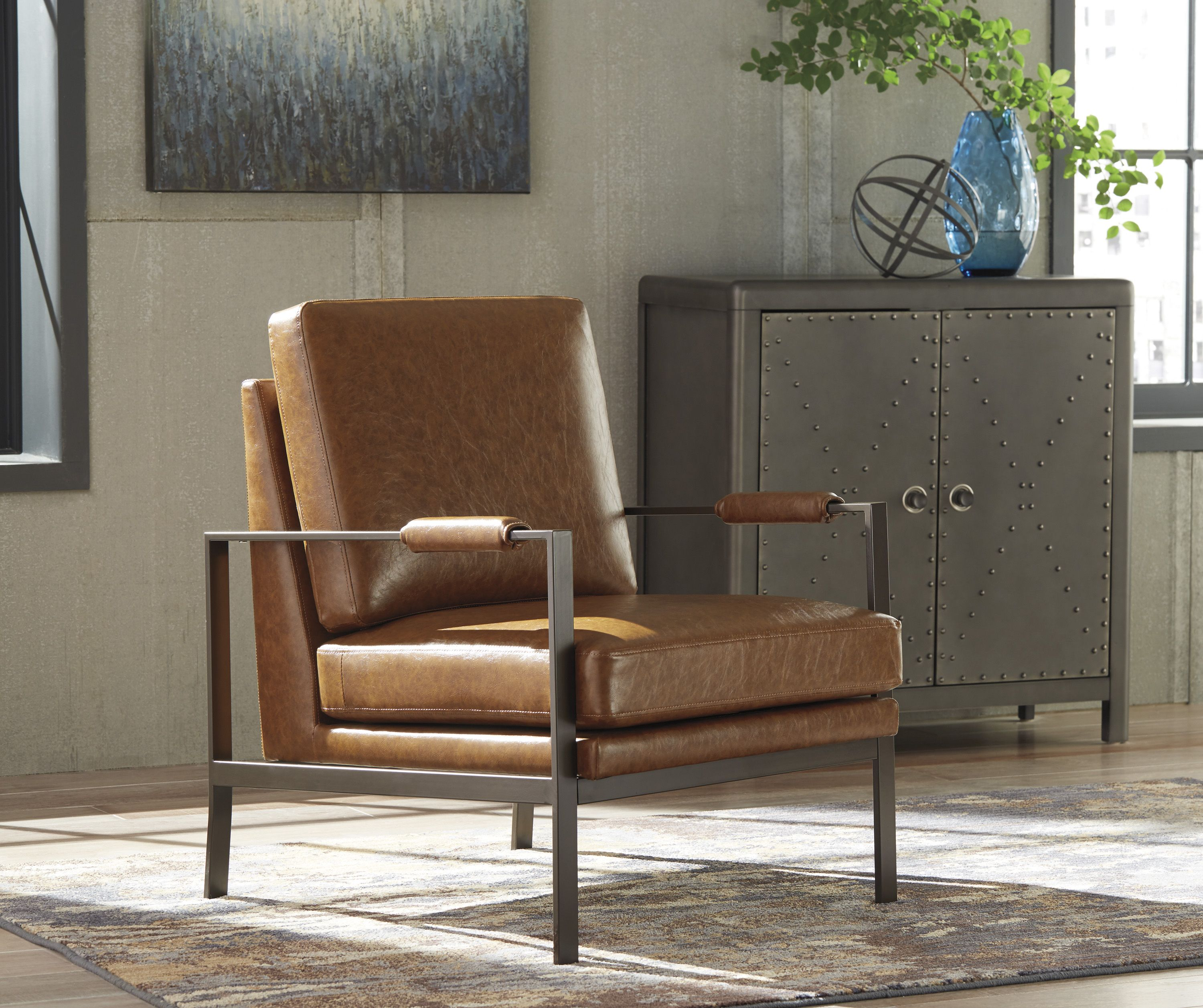 Ashley Peacemaker Accent Chair Homemakers Furniture Brown