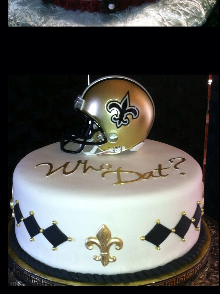 New Orleans Saints Cake Want This For My Birthday New Orleans