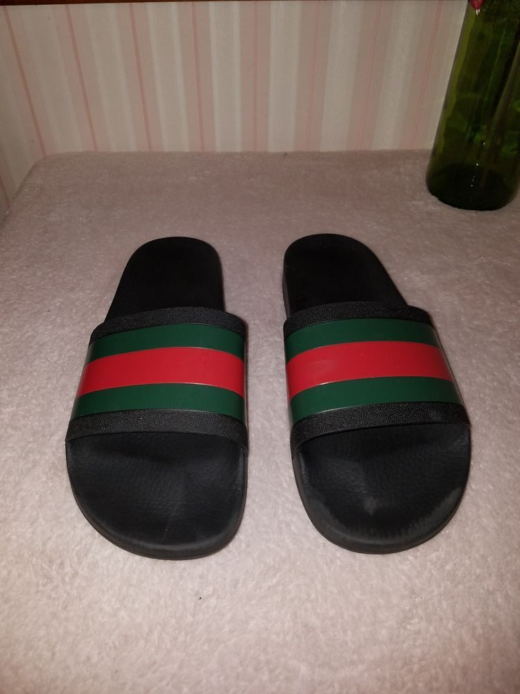 57daa377485 Gucci Pursuit 72 Slide Men s Black Spa Sandals Size 11G   12US  fashion   clothing  shoes  accessories  mensshoes  sandals (ebay link)