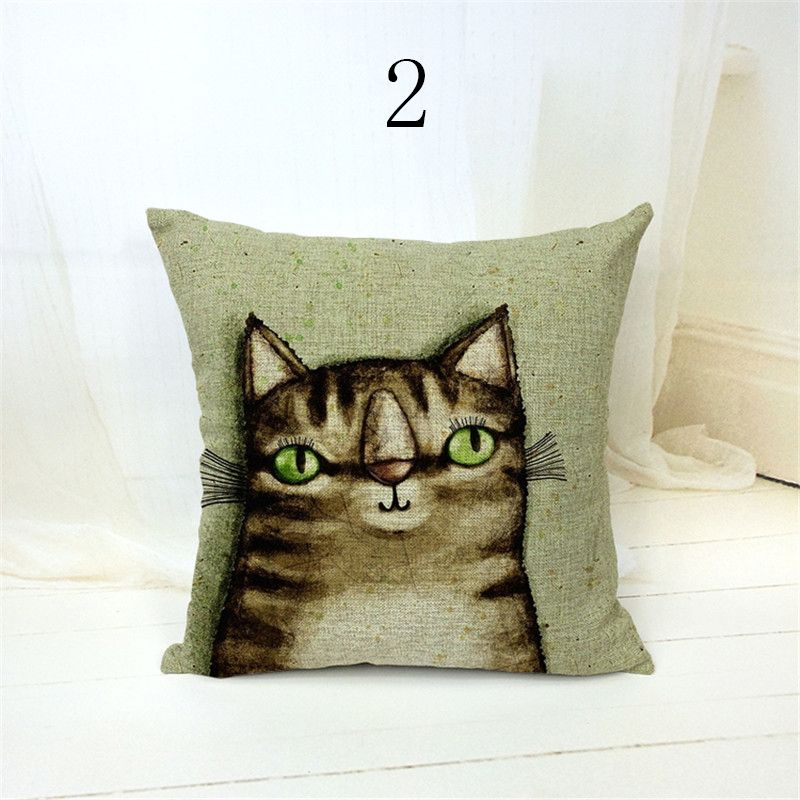 Ikea Decorative Pillows Mesmerizing Cute Cartoon Cotton Linen Blend Throw Pillow Home Decorative Cheap Decorating Inspiration