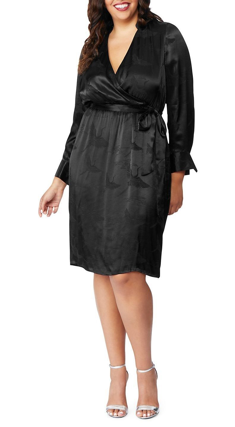 Plus Size Faux Wrap Dress - Plus Size Party Dress #plussize ...