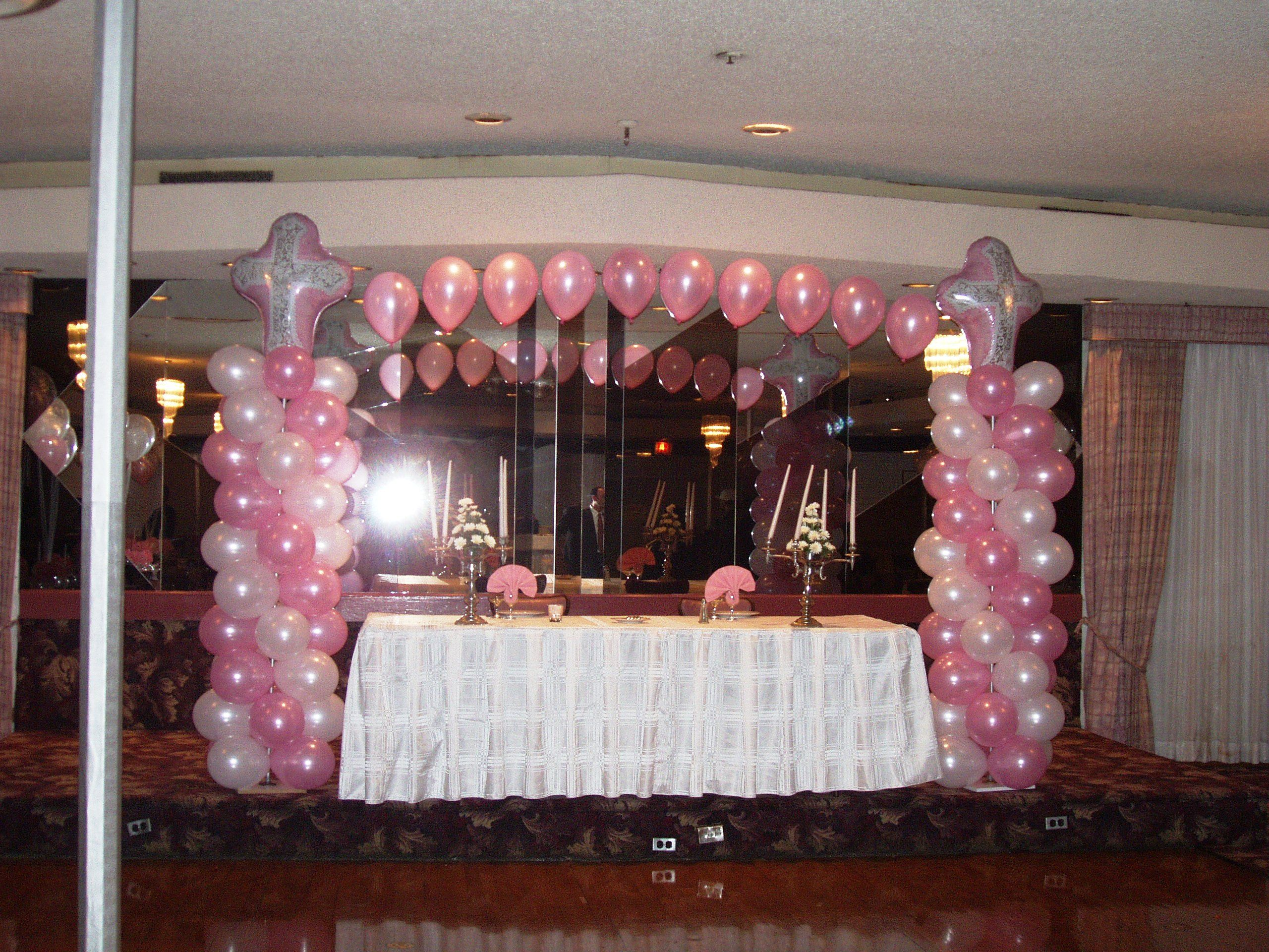 Columns For Decorations First Communion Balloon Decorations Party Planner And