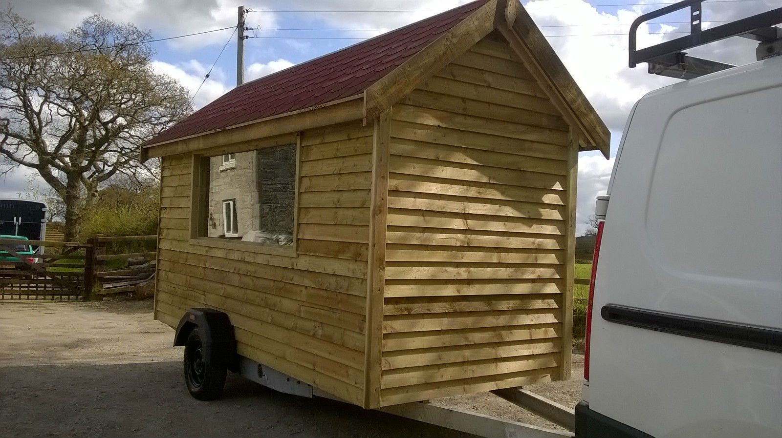 a6b91c1edd mobile shed catering traier glamping pod trailer shepherds hut  in Garden    Patio
