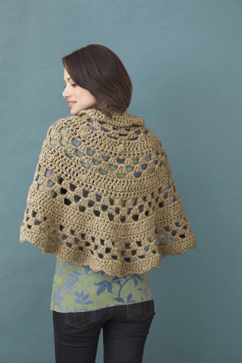 Elspeth Shawl (Crochet)   Chalecos mujer   Pinterest   Ponchos ...