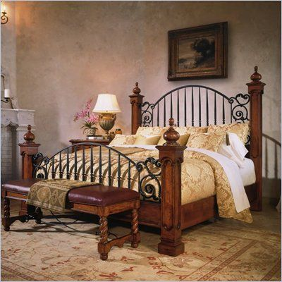 Love The Bed Stanley Furniture Santa Barbara Montecito Iron Poster In Medium Woodtone Ib 461 134